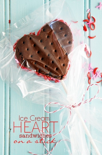 Valentines Day Ice Cream Heart sandwiches